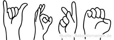 Yfke im Fingeralphabet der Deutschen Gebärdensprache