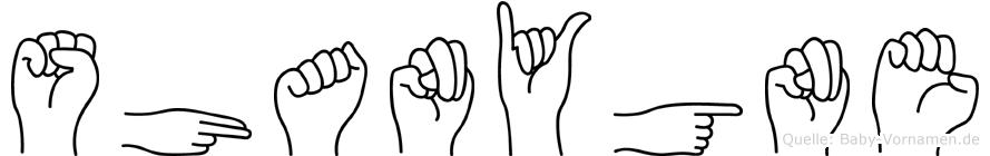 Shanygne in Fingersprache für Gehörlose