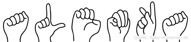 Alemka im Fingeralphabet der Deutschen Gebärdensprache