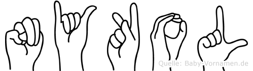 Nykol in Fingersprache für Gehörlose