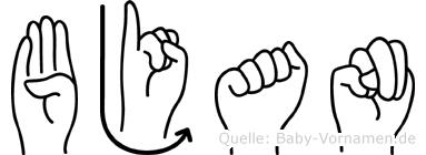 Bjan in Fingersprache für Gehörlose