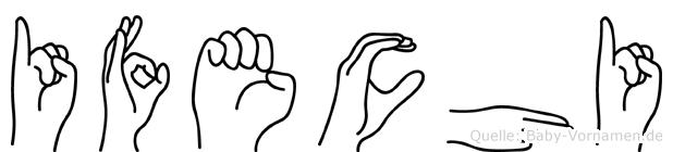 Ifechi im Fingeralphabet der Deutschen Gebärdensprache