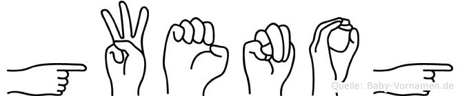 Gwenog  in Fingersprache für Gehörlose