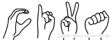 Civa im Fingeralphabet der Deutschen Gebärdensprache