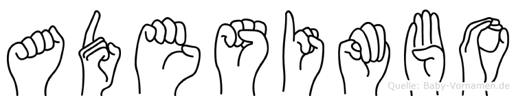 Adesimbo in Fingersprache für Gehörlose