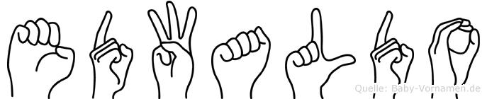 Edwaldo im Fingeralphabet der Deutschen Gebärdensprache