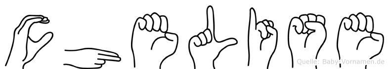Chelise in Fingersprache für Gehörlose