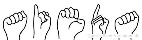 Aieda in Fingersprache für Gehörlose