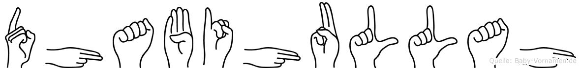 Dhabihullah in Fingersprache für Gehörlose