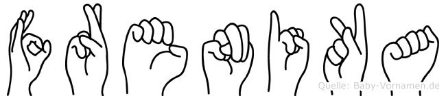 Frenika in Fingersprache für Gehörlose