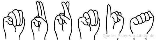 Murnia in Fingersprache für Gehörlose