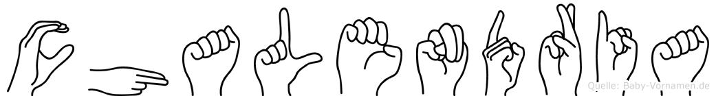 Chalendria in Fingersprache für Gehörlose