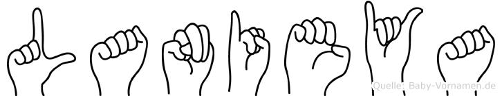 Lanieya im Fingeralphabet der Deutschen Gebärdensprache
