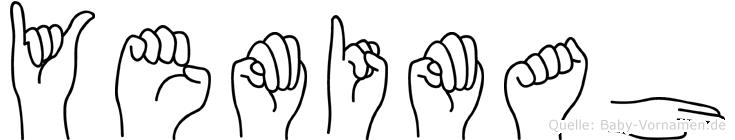 Yemimah in Fingersprache für Gehörlose