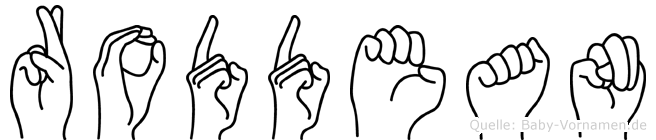 Roddean im Fingeralphabet der Deutschen Gebärdensprache