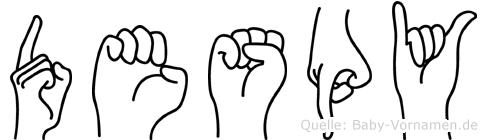 Despy in Fingersprache für Gehörlose