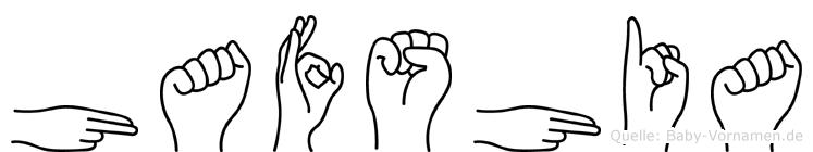 Hafshia im Fingeralphabet der Deutschen Gebärdensprache
