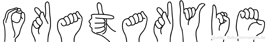 Okatakyie in Fingersprache für Gehörlose
