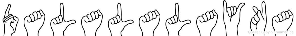 Dalalalayka im Fingeralphabet der Deutschen Gebärdensprache