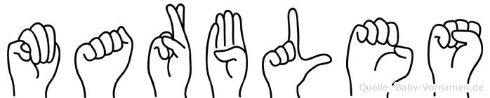 Marbles in Fingersprache für Gehörlose