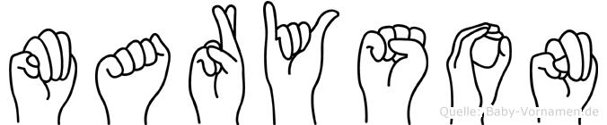 Maryson in Fingersprache für Gehörlose
