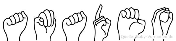 Amadeo in Fingersprache für Gehörlose