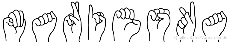 Marieska in Fingersprache für Gehörlose