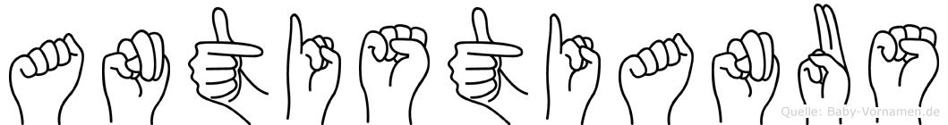 Antistianus in Fingersprache für Gehörlose