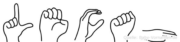 Lecah in Fingersprache für Gehörlose
