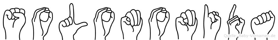 Solomonida im Fingeralphabet der Deutschen Gebärdensprache