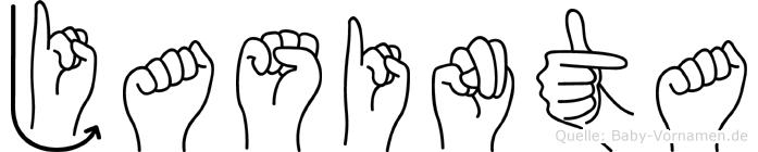 Jasinta in Fingersprache für Gehörlose