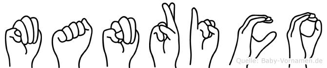 Manrico im Fingeralphabet der Deutschen Gebärdensprache