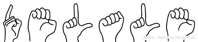 Delale im Fingeralphabet der Deutschen Gebärdensprache