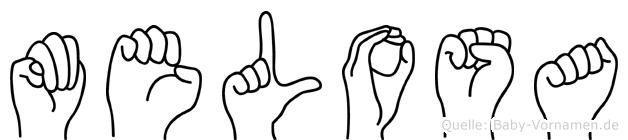Melosa im Fingeralphabet der Deutschen Gebärdensprache