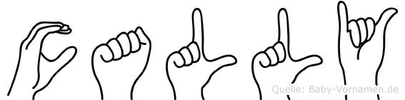 Cally in Fingersprache für Gehörlose