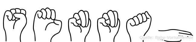 Sennah in Fingersprache für Gehörlose