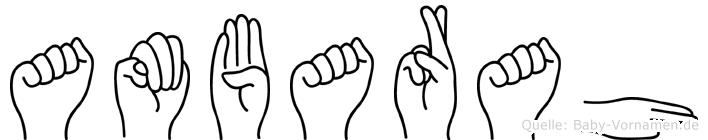 Ambarah in Fingersprache für Gehörlose