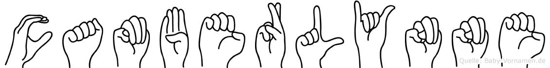 Camberlynne im Fingeralphabet der Deutschen Gebärdensprache