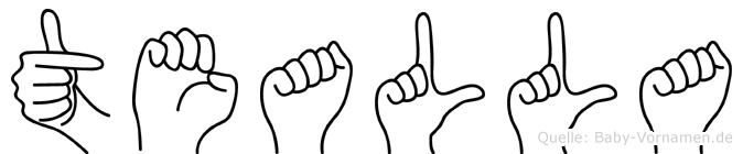 Tealla in Fingersprache für Gehörlose
