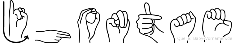 Jhontae in Fingersprache für Gehörlose