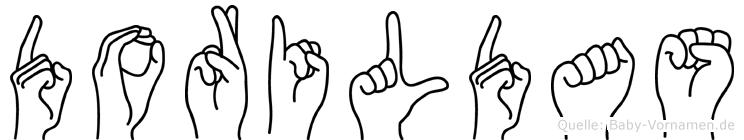 Dorildas im Fingeralphabet der Deutschen Gebärdensprache