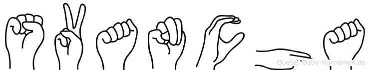 Svancha im Fingeralphabet der Deutschen Gebärdensprache