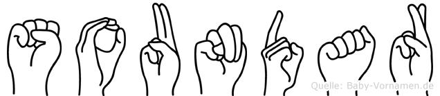 Soundar in Fingersprache für Gehörlose