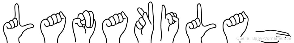 Lanakilah im Fingeralphabet der Deutschen Gebärdensprache