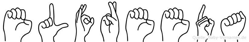 Elfreeda im Fingeralphabet der Deutschen Gebärdensprache