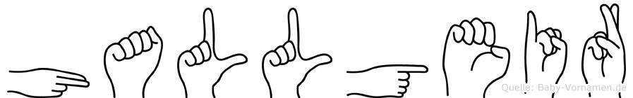 Hallgeir im Fingeralphabet der Deutschen Gebärdensprache