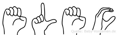 Elec im Fingeralphabet der Deutschen Gebärdensprache