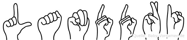 Landdri im Fingeralphabet der Deutschen Gebärdensprache