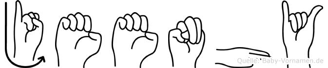 Jeenhy im Fingeralphabet der Deutschen Gebärdensprache