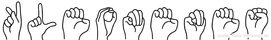 Kleomenes in Fingersprache für Gehörlose